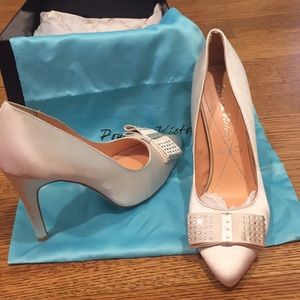 Brand new satin high heel pumps